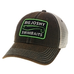 Big Joshy Swimbaits - Rusty Black Patch Trucker Hat