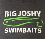 Big Joshy Swimbaits - Logo Tee- Charcoal White/Green