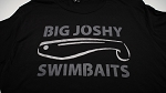 Big Joshy Swimbaits - Logo Tee- Black/Dark Grey/Silver