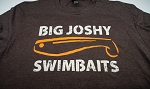 Big Joshy Swimbaits - Logo Tee- Brown Beige/Orange